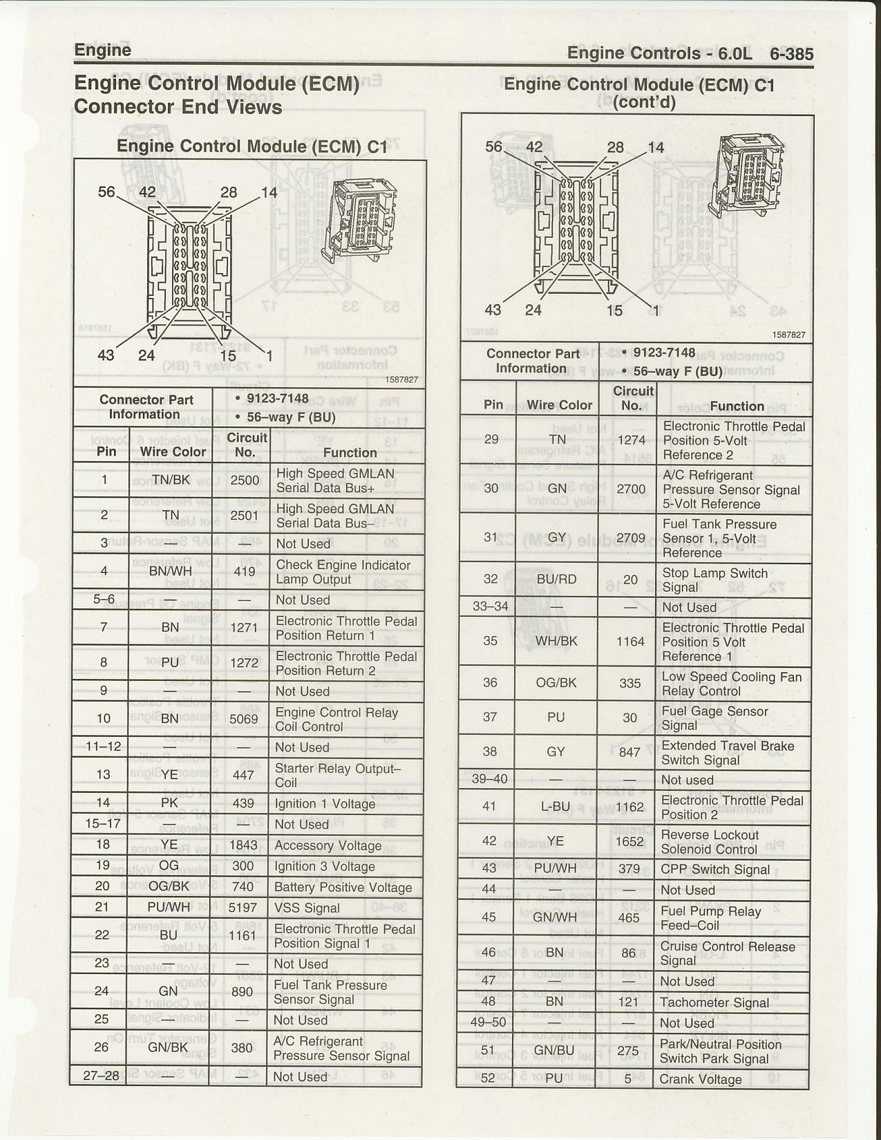 Pinouts And Wiring Diagrams Page 4 Ls1tech Camaro Firebird 2006 Gmc Sierra 3500 Diagram Ls2 C1