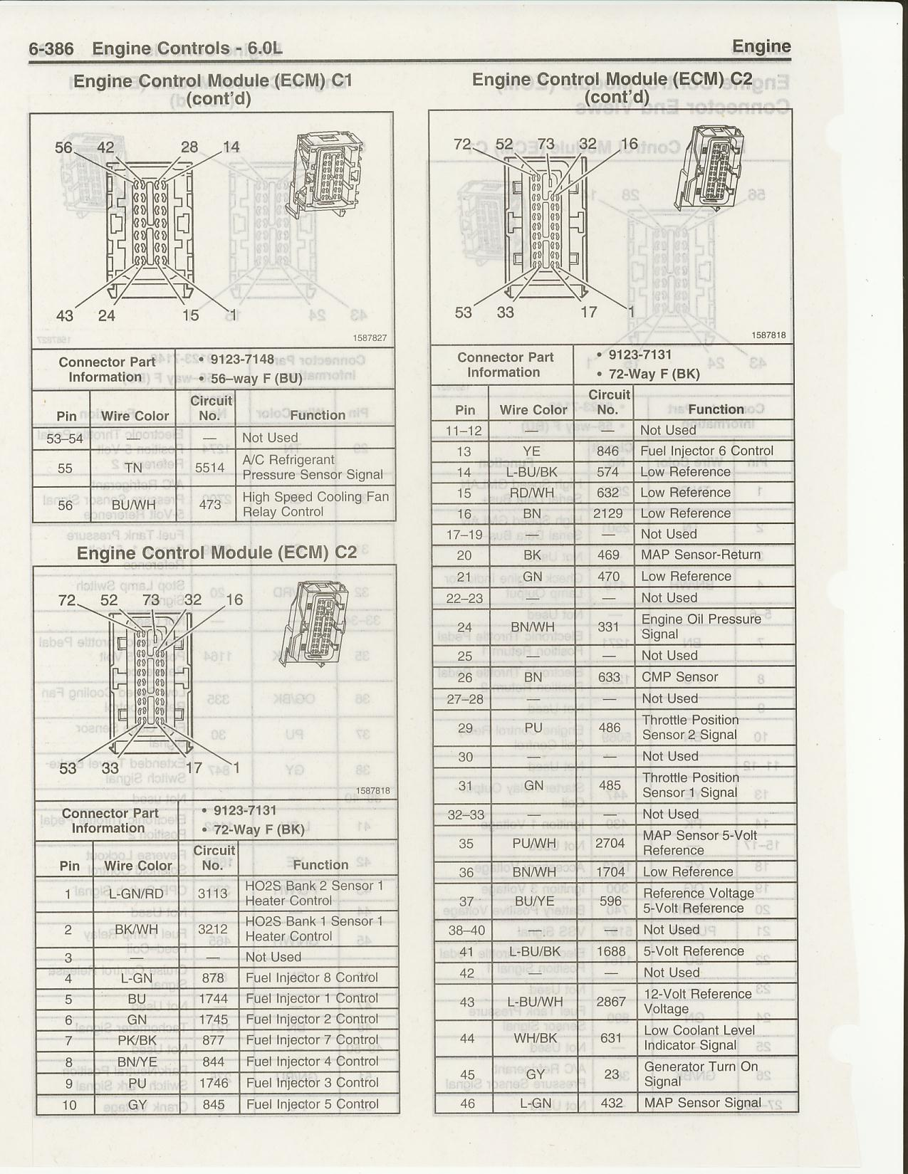 Pinouts And Wiring Diagrams Page 4 Ls1tech Camaro Firebird 2001 Chevy S10 Cluster Diagram Ls2 C1 C2