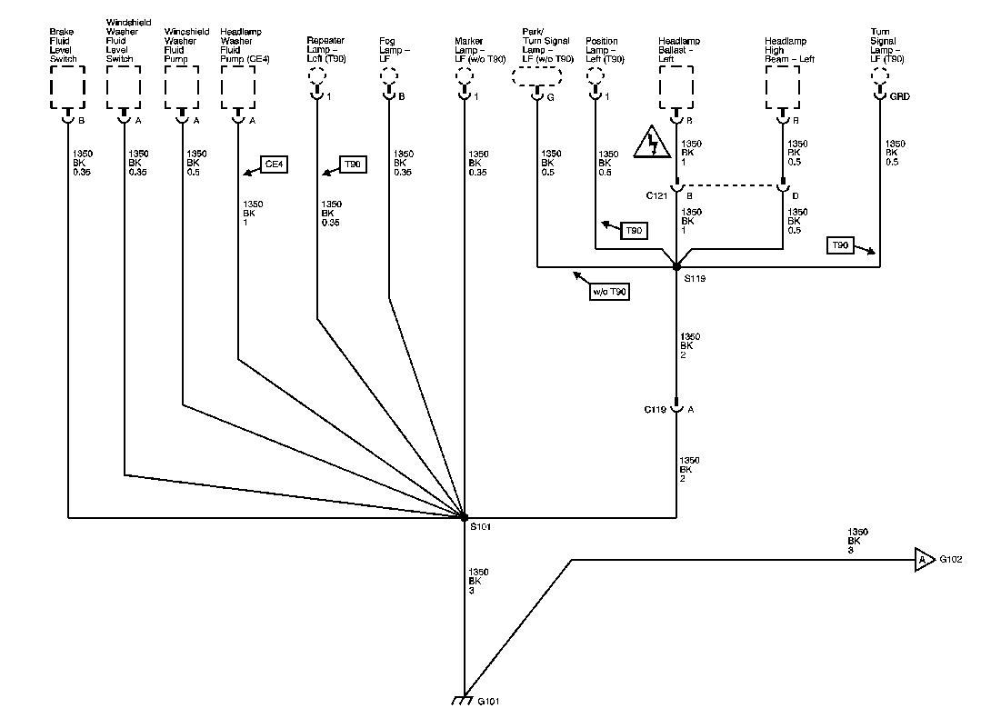 2007 C6 Corvette Grounds Wiring Diagrams G101